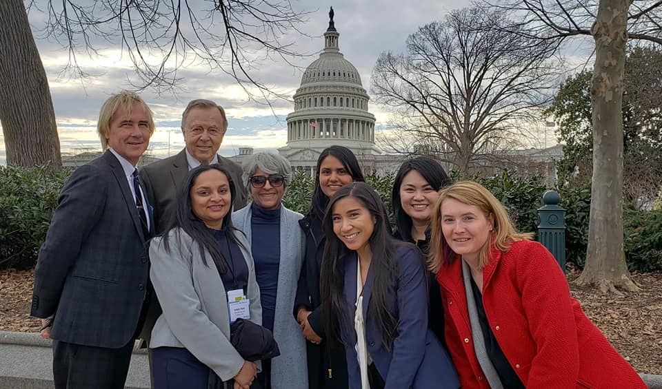 Picture of FOTH 2019 delegation in front of the Capitol Building