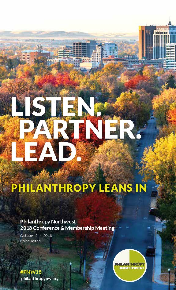 Philanthropy Northwest 2018 Annual Conference Program Cover