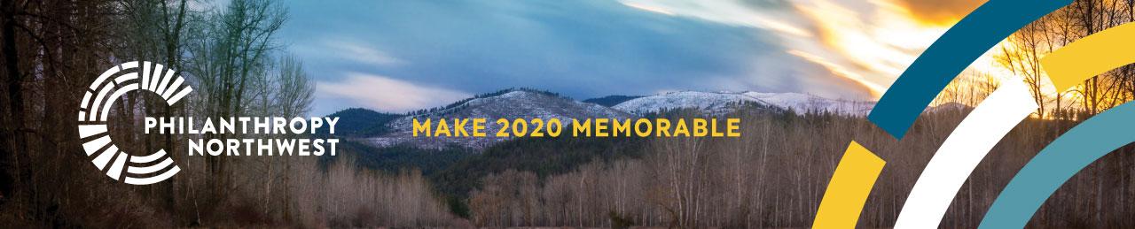 Philanthropy Northwest Annual Conference 2020 web banner_make 2020 memorable