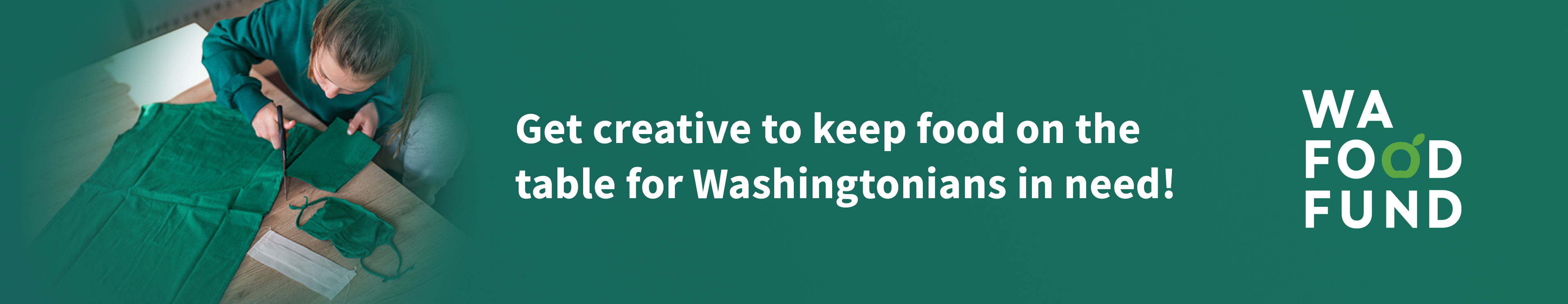 Get creative to keep food on the table for Washingtonians in need!