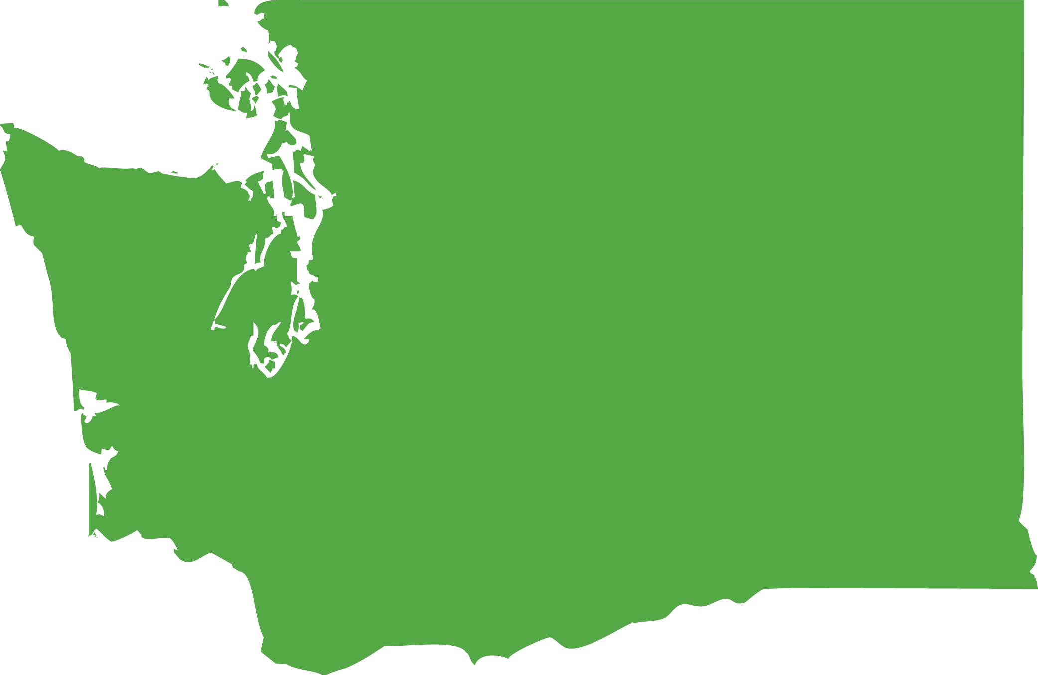 Washington State icon in lime green