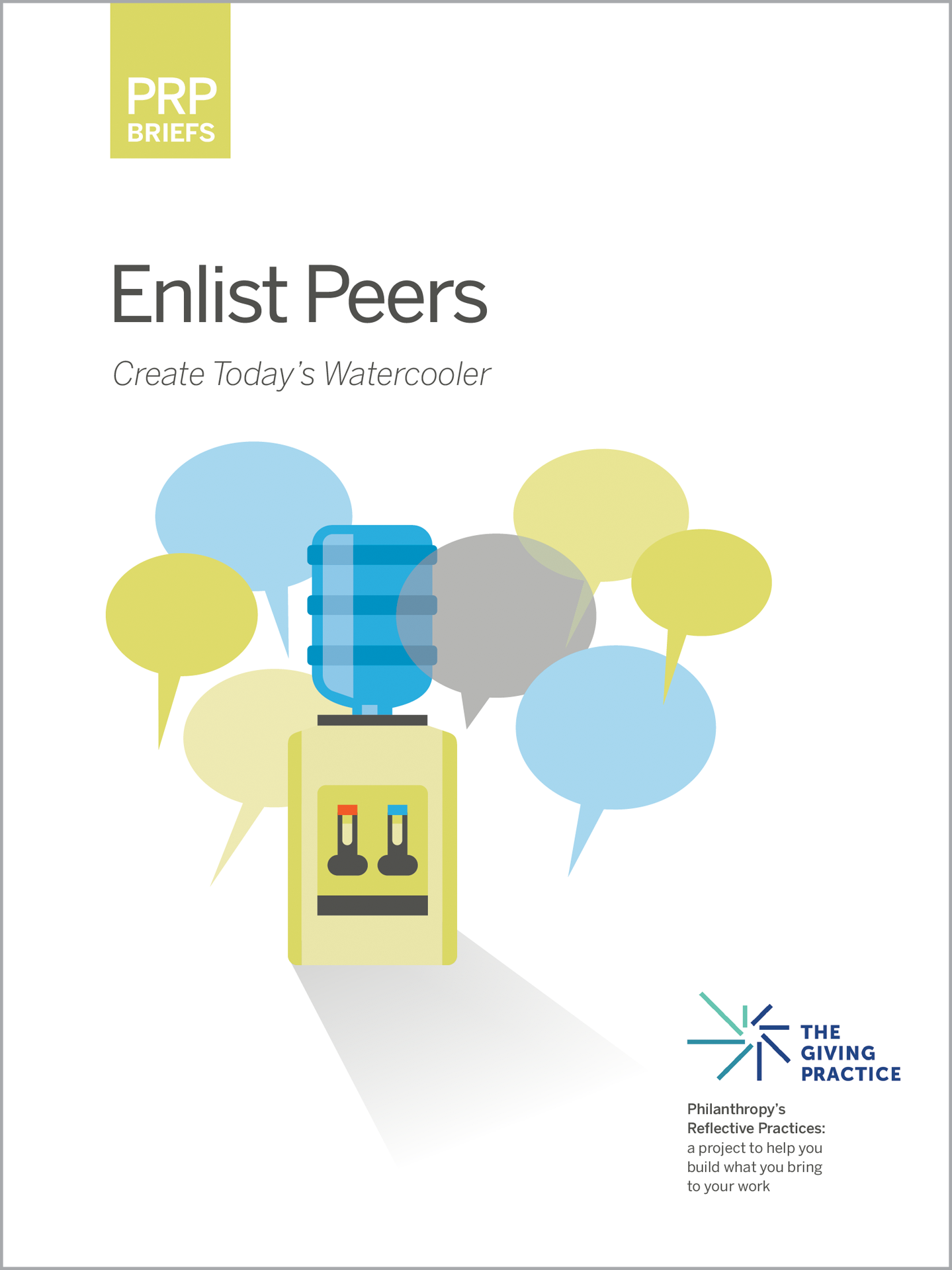 Thumbnail of cover, titled PRP Brief: Enlist Peers