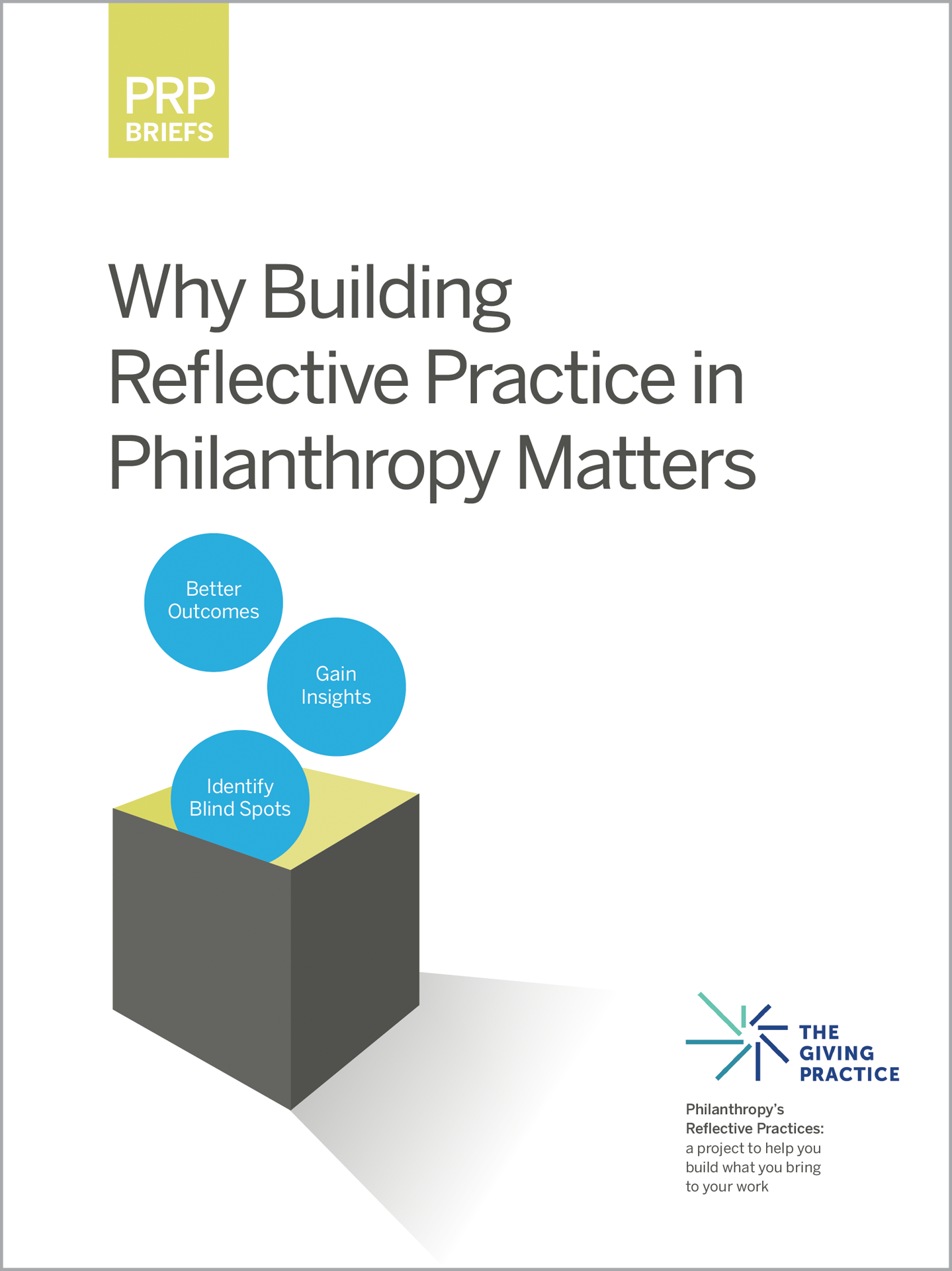 Thumbnail of guide cover entitled Reflective Practices: Why It Matters