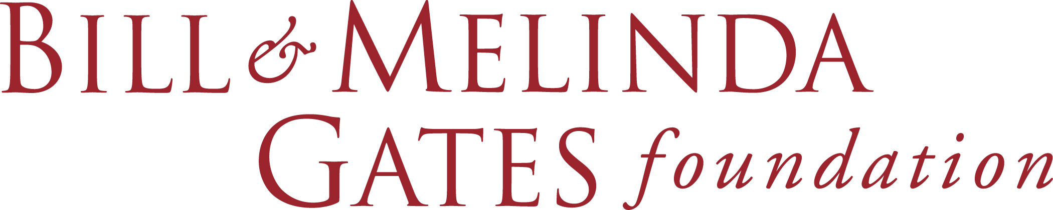 Bill and Melinda Gates Foundation written in red font