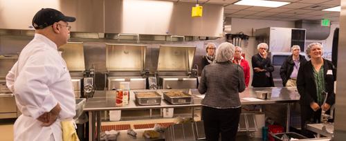 Touring the Farestart kitchen