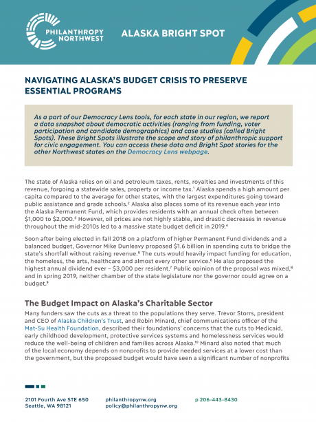 Thumbnail of Alaska Bright Spot: Navigating Alaska's Budget Crisis to Preserve Essential Programs