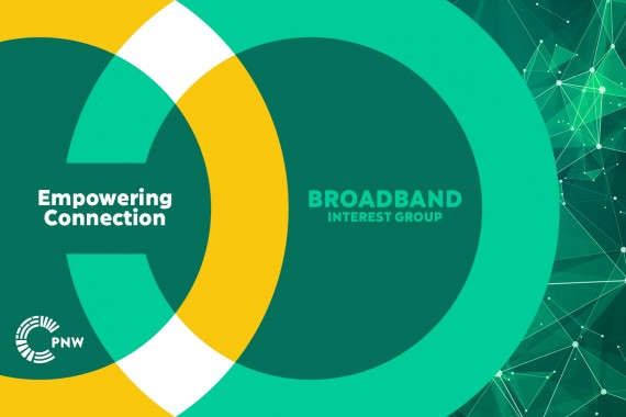 """Broadband Interest Group graphic with the tagline """"Empowering Connection"""""""