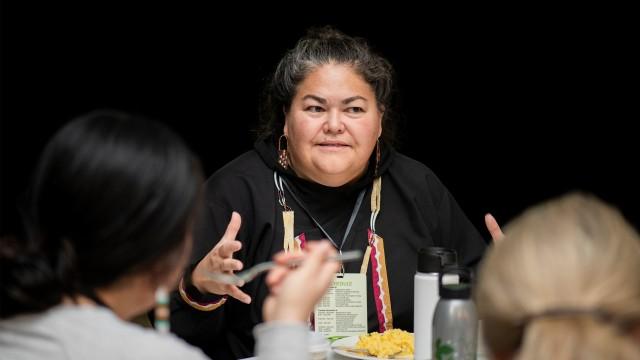 Liz Medicine Crow in conversation at Philanthropy Northwest's 2019 Conference