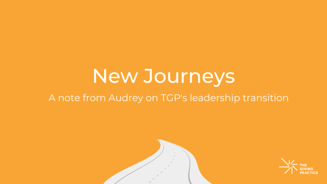 Featured image: New Journeys. A note from Audrey on TGP's leadership transition.