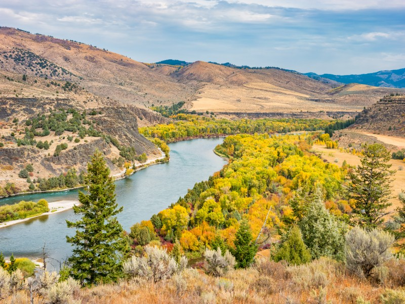 Snake River on an autumn day