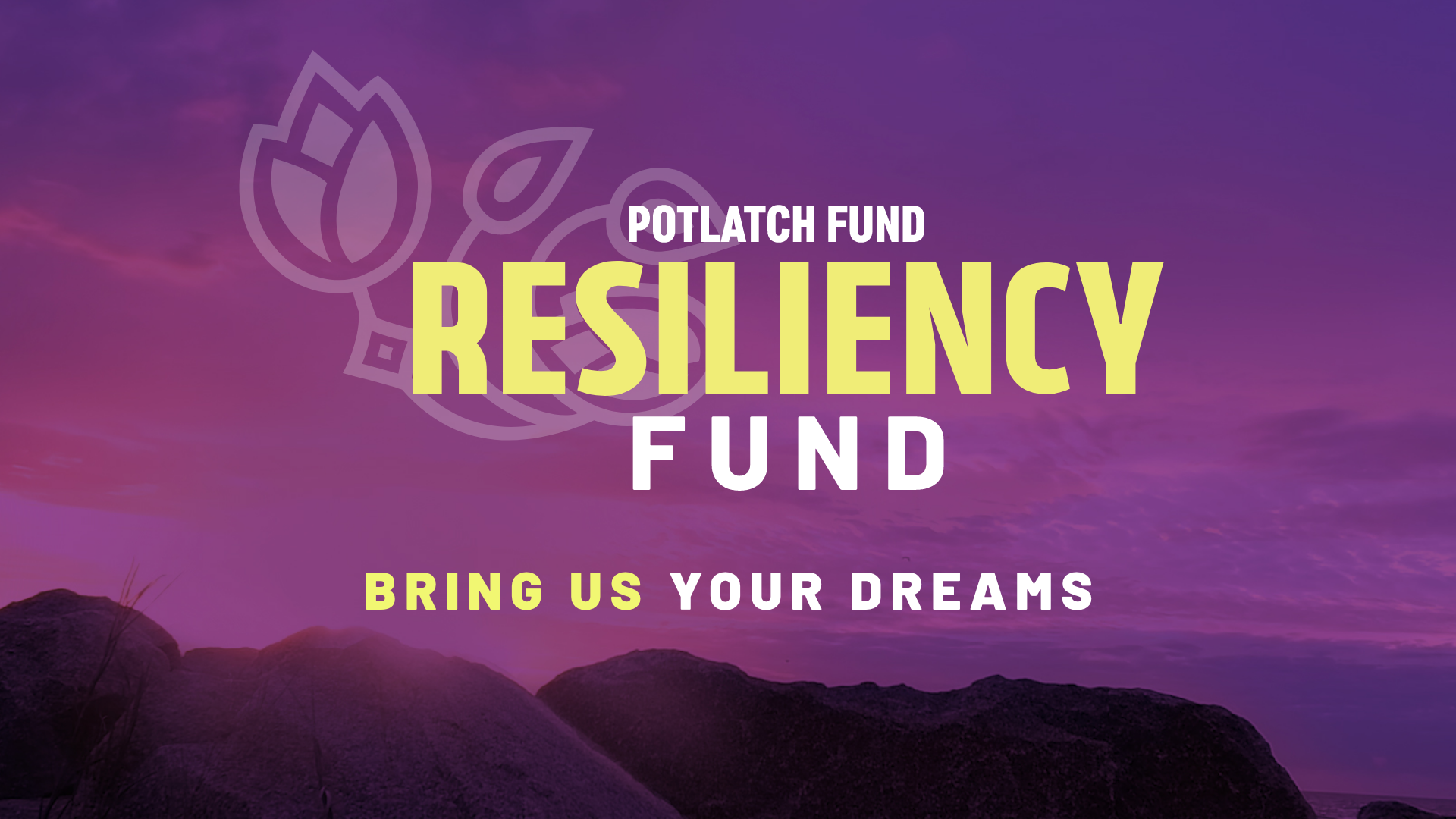"""Potlach Fund Resiliency Fund """"Bring Us Your Dreams"""""""