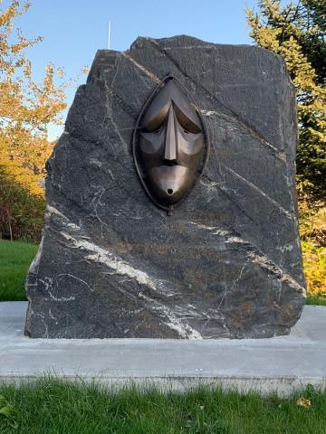 Bronze mask artwork