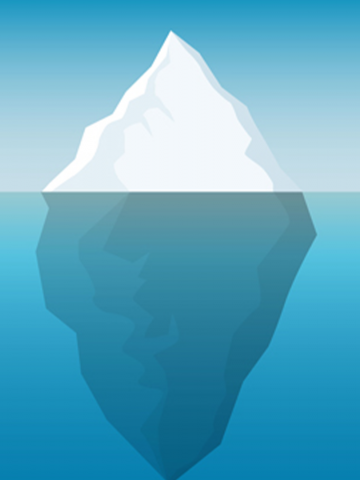 Image of iceberg half submerged
