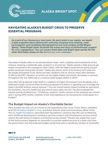 Thumbnail of Alaska Bright Spot: Navigating Alaska's Budget Crisis to Preserve Essential Programs