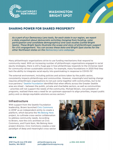 Thumbnail of Washington Bright Spot: Sharing Power for Shared Prosperity