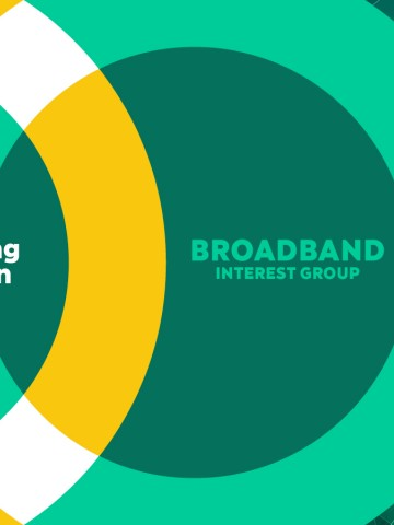 "Broadband Interest Group graphic with the tagline ""Empowering Connection"""