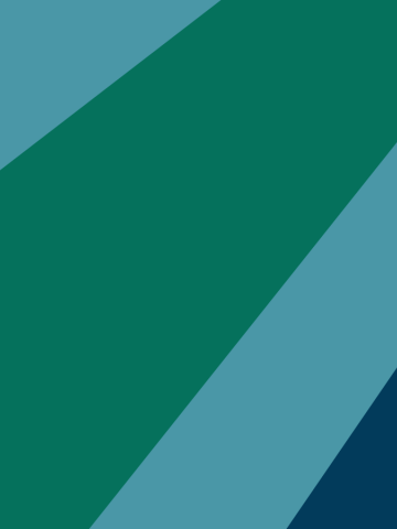 Philanthropy Northwest graphic elements, pine colored background with arcs of bluish accent colors