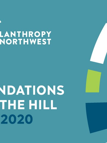 Foundations on the Hill event banner with Philanthropy Northwest's logo graphics