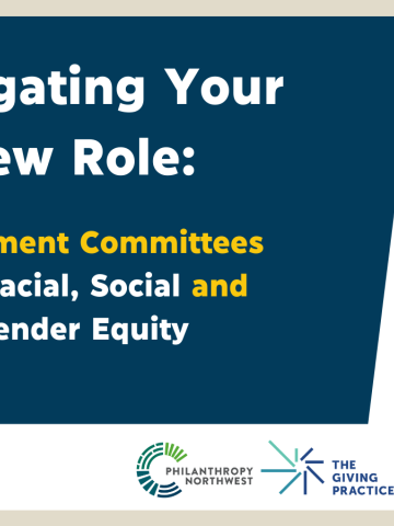 Navigating YourNew Role: Investment Committees and Racial, Social and Gender Equity graphic