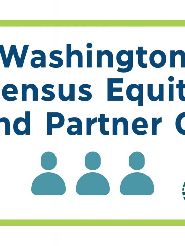 Web banner with event title: WA Census Equity Fund Partner Call with 3 people icons and the Philanthropy Northwest logo