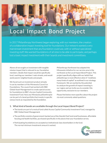 Cover image for Local Impact Bond Project FAQ